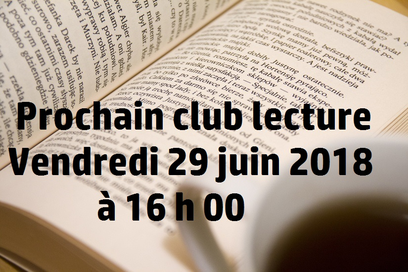 club lecture juin 2018